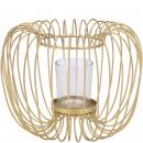 Metal lantern Lepe, D20cm, H16cm, gold